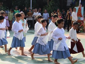 Foto Kemeriahan Festival Budaya Kuliner Nusantara Sekolah Antonius Jakarta
